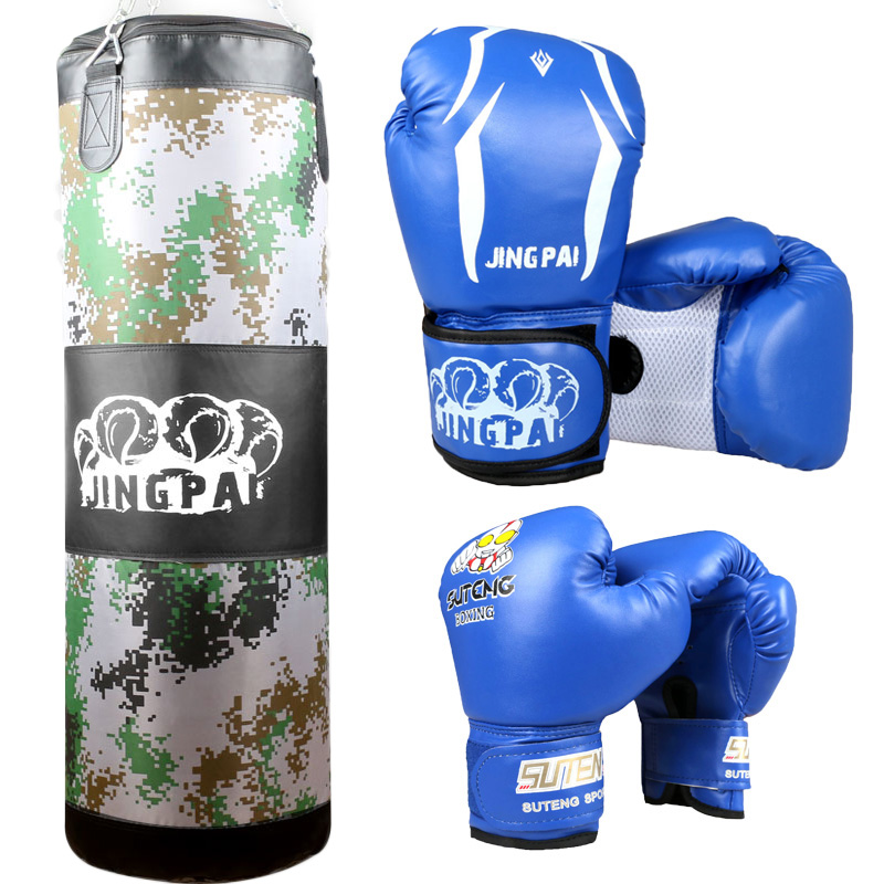 Us 21 61 6 Off Boxing Gloves Kids 1pc Empty Sandbag 100cm Training Fitness Mma Fighter Bag Punching In