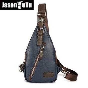 Männer messenger bags Import pu-leder wasserdicht männer tasche 2017 Retro blau schwarz kleine crossbody tasche JASON TUTU handtasche B305