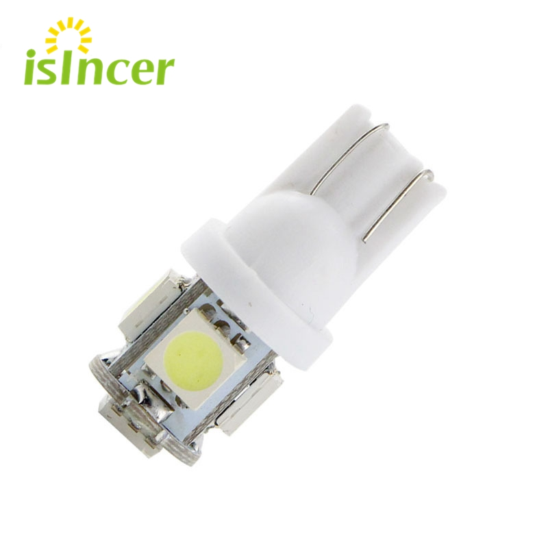 1pcs T10 LED W5W 5050 5SMD 192 168 194 White Lights LED Car Light Wedge Lamp Bulbs Super Bright DC 12V License Plate Light DRL