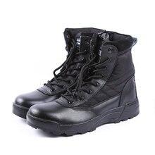 Esdy Botas Militares Tácticos Del Desierto SWAT Botas de Combate Del Ejército SWAT Botas Militares Hombres Zapatos de Escalada Hombres Botas Trabajo Al Aire Libre