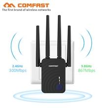 Comfast CF WR754AC 와이파이 리피터 5Ghz 긴 와이파이 범위 익스텐더 부스터 1200Mbps 홈 무선 N 라우터 4 * 2dbi 안테나 앰프