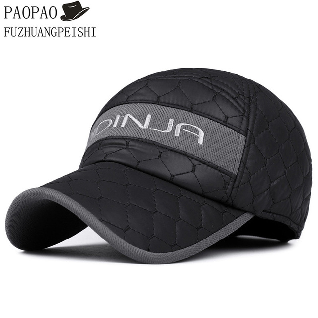 2016 winter dad hat warm cotton thickening protection fitted mens hats ear flaps baseball cap