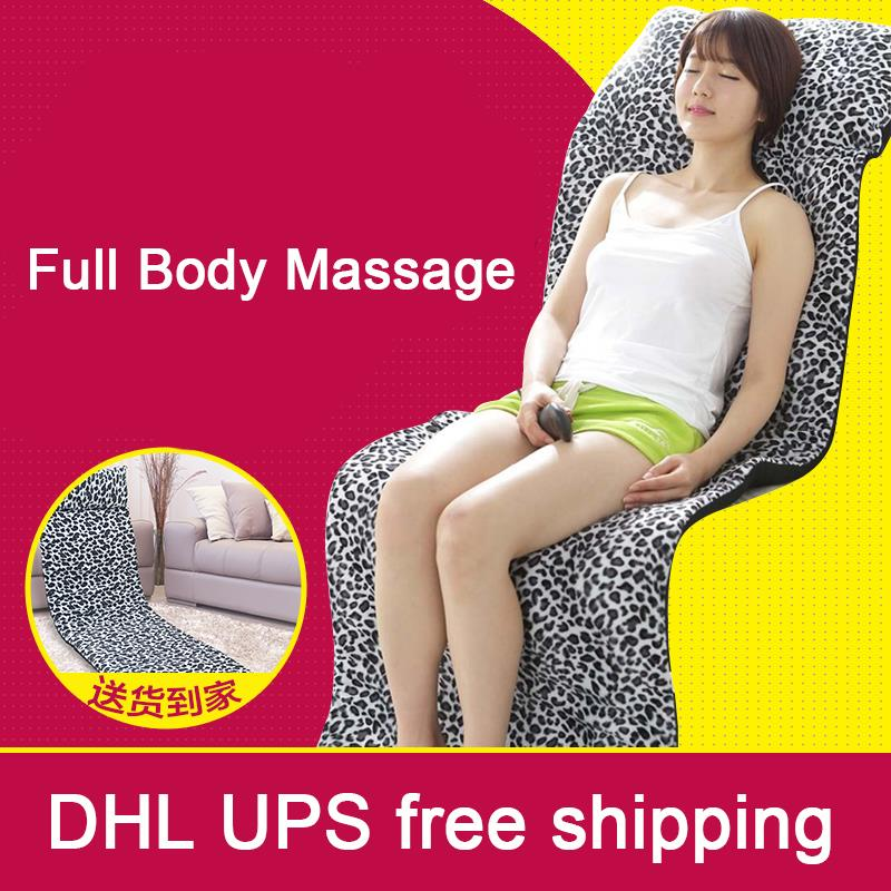 Free Shipping Massage mattress full body multifunctional cushion electric household the elderly heated massage pad 110V