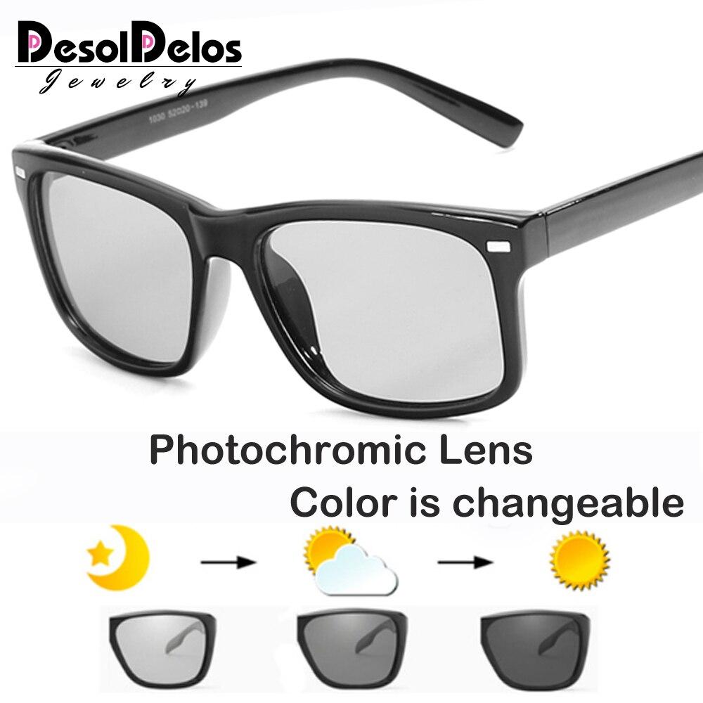 New HD Driving Small Lens Polarized Photochromic Sunglasses Men Chameleon Glasses Women Sunglass Goggles Oculos De Sol Masculino
