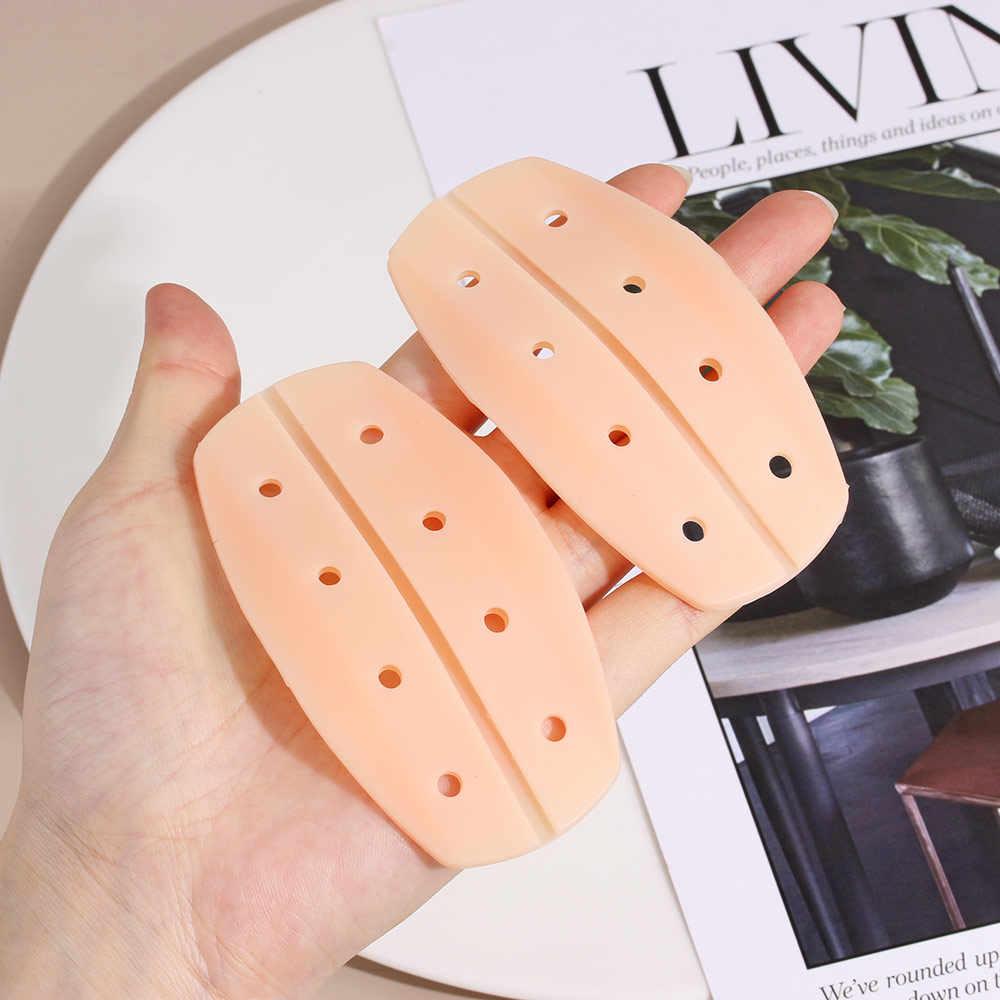 Yeni 2 adet/çift silikon omuz pedi yumuşak sutyen askısı tutucusu yastıkları kaymaz omuz askısı yastıkları tutucu sutyen kabartma ağrı kadınlar için