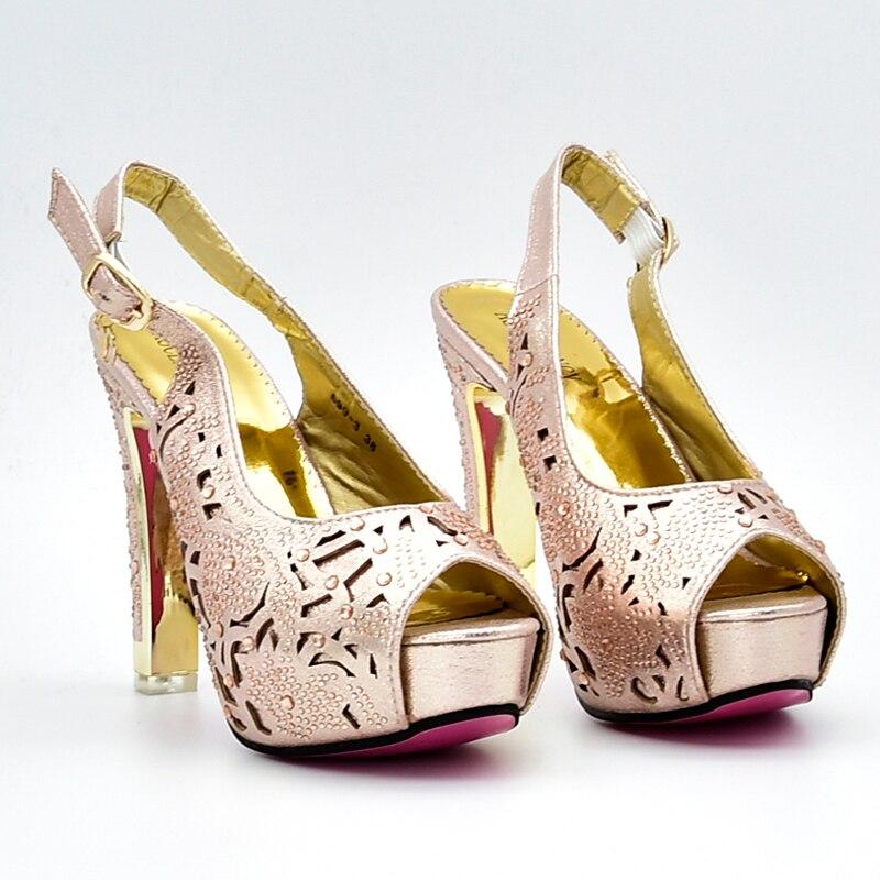 Qualité Correspondant Parties Africain Conception Pour 3 2 Et 4 Sac Haute Chaussures 1 Nouvelle Italien Rose Arrivée Lumière Ensemble Chaussure SwOqfp7