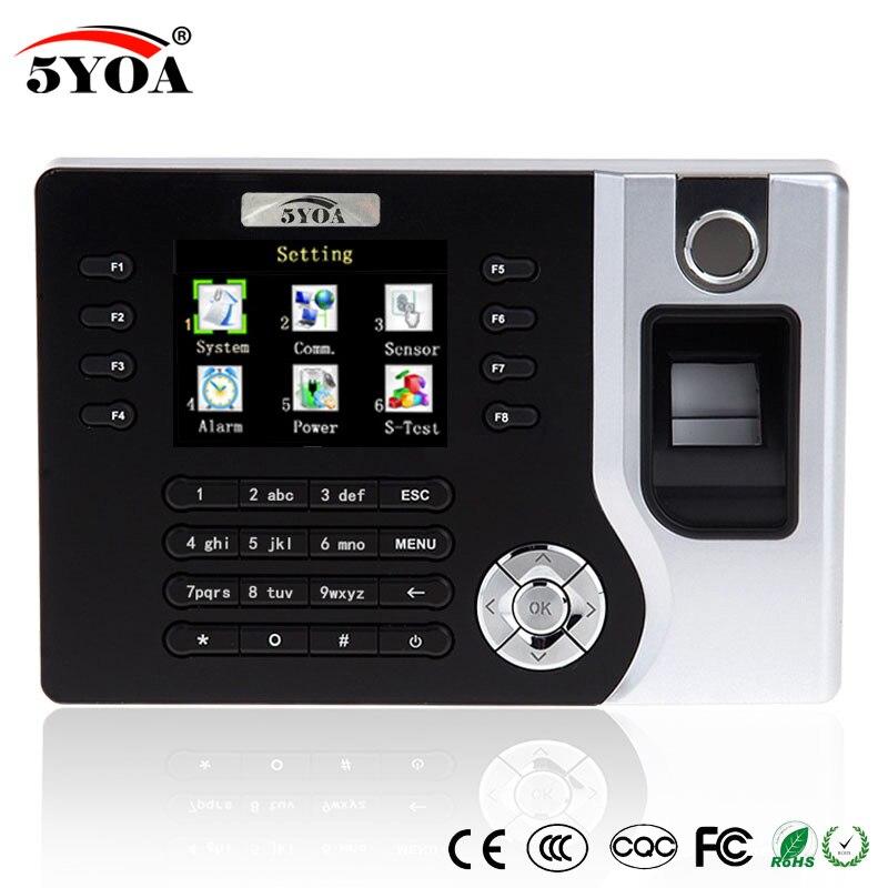 TCP IP biométrique d'empreintes digitales temps présence horloge enregistreur employé numérique électronique anglais lecteur Machine USB RFID carte d'identité