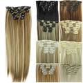 24inch Natural Hair Straight Hair Extensions Clip In Hair Extension Synthetic Hairpieces Artificial Hair Extention Clip In