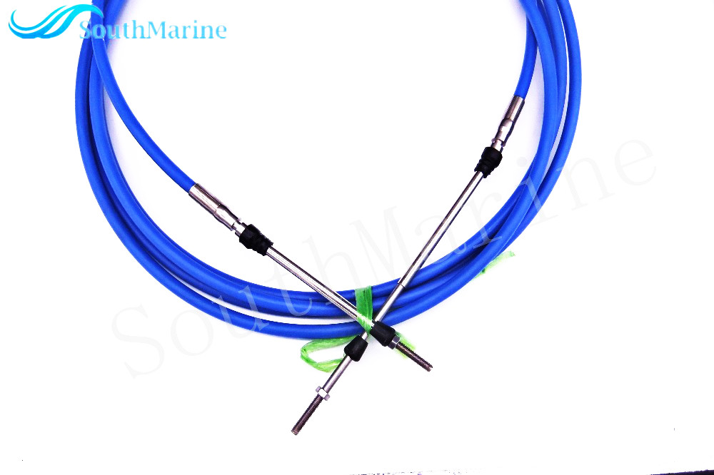 Black 17Ft Boat Throttle Shift Control Cable for Yamaha Motor Outboard