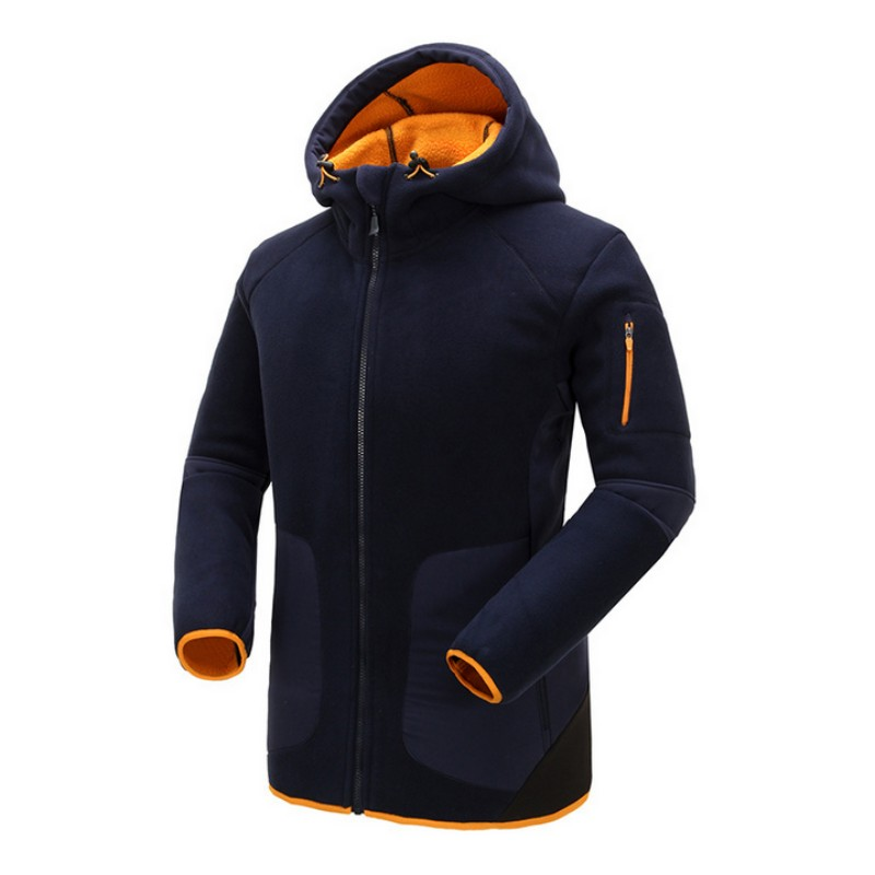 Top Brand Mens Fleece Windbreakers Warm Hiking Outwear Hooded Camping Clothes For Fishing Hunting Outfit Men Outdoor Jacket quick dry female jacket men s windbreakers women sportswear outdoor camping mountaineering jacket hiking clothes
