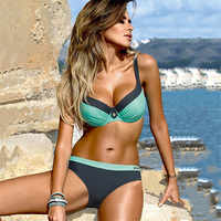 YCDYZ New Sexy Brazilian Bikini Push up Tanga Swimsuit Swimwear Women Biquinis Feminino Maillot De Bain Femme 2018 Swimming Suit