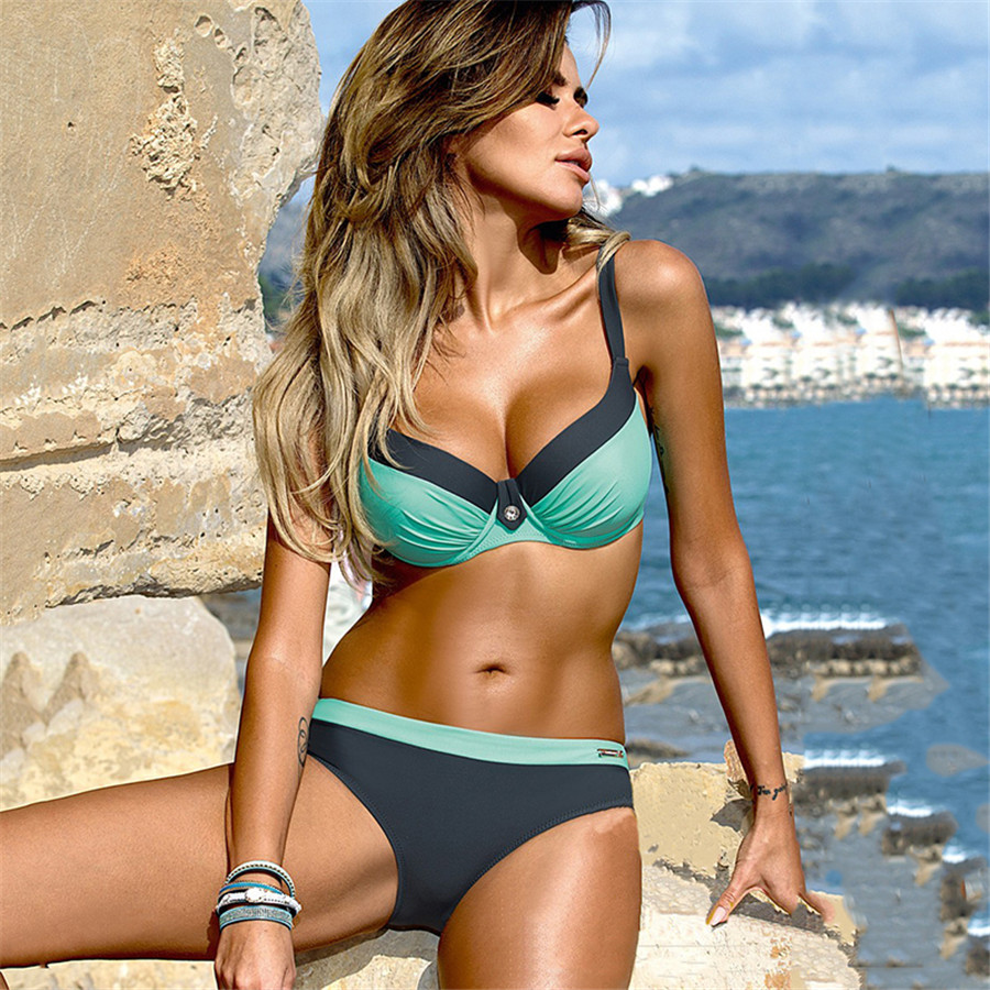 YCDYZ New Sexy Brazilian <font><b>Bikini</b></font> <font><b>Push</b></font> <font><b>up</b></font> Tanga Swimsuit Swimwear Women Biquinis Feminino Maillot De Bain Femme <font><b>2018</b></font> Swimming Suit image