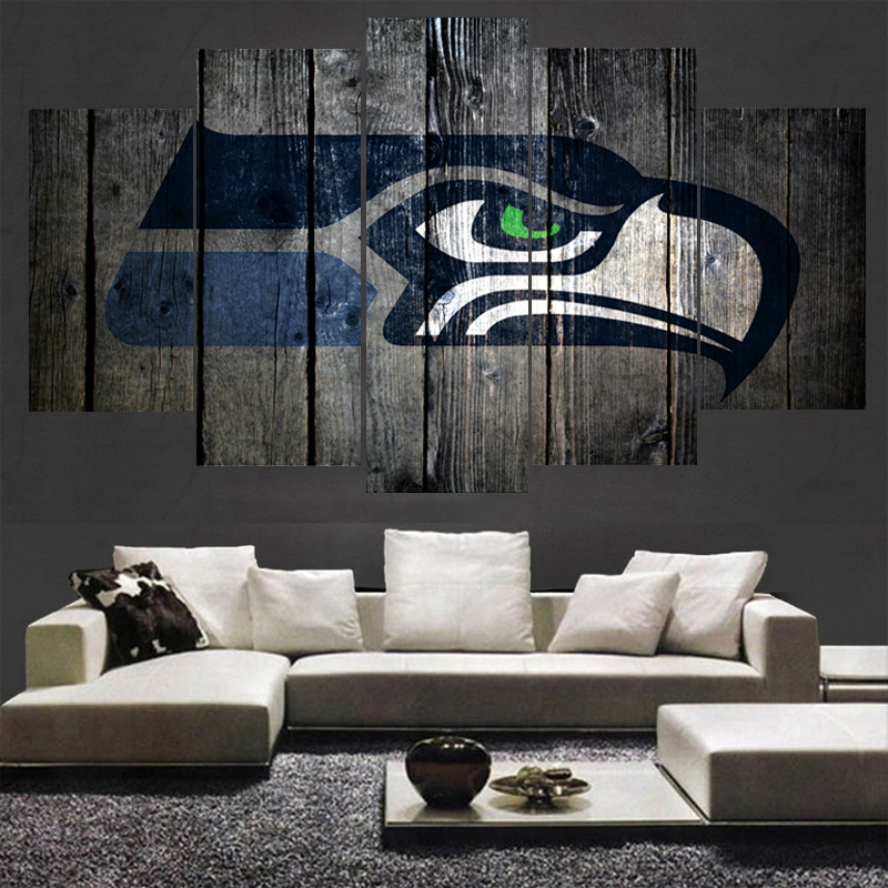Sport team seattle seahawks logo painting wall art modular for Paint store seattle