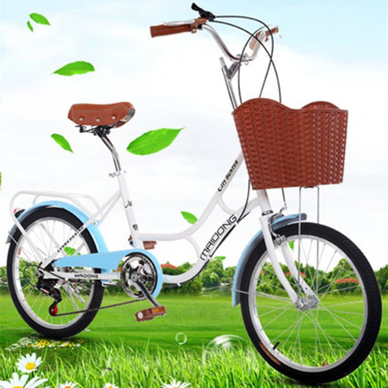 20 Inch Lady Adult Bicycle, High-Grade Variable Speed Student, Lady, Princess, Light Leisure Bike.