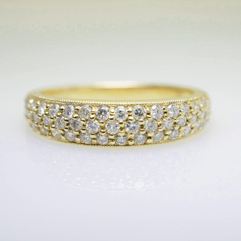 цена 14K Yellow gold Marquise Moissanite Engagement Wedding Band Ring Wide 4.5mm For Women in Fine Jewelry в интернет-магазинах