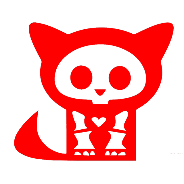 car stying cartoon animals cat in medical x ray radiographs funny car sticker for motorhome