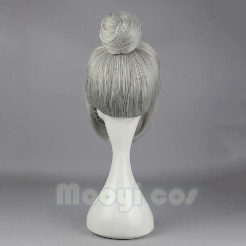 Perruque de Cosplay Shiraki Meiko école pénitentiaire 35cm cheveux synthétiques courts résistants à la chaleur pour femmes déguisement de fête perruque cheveux chignon gris