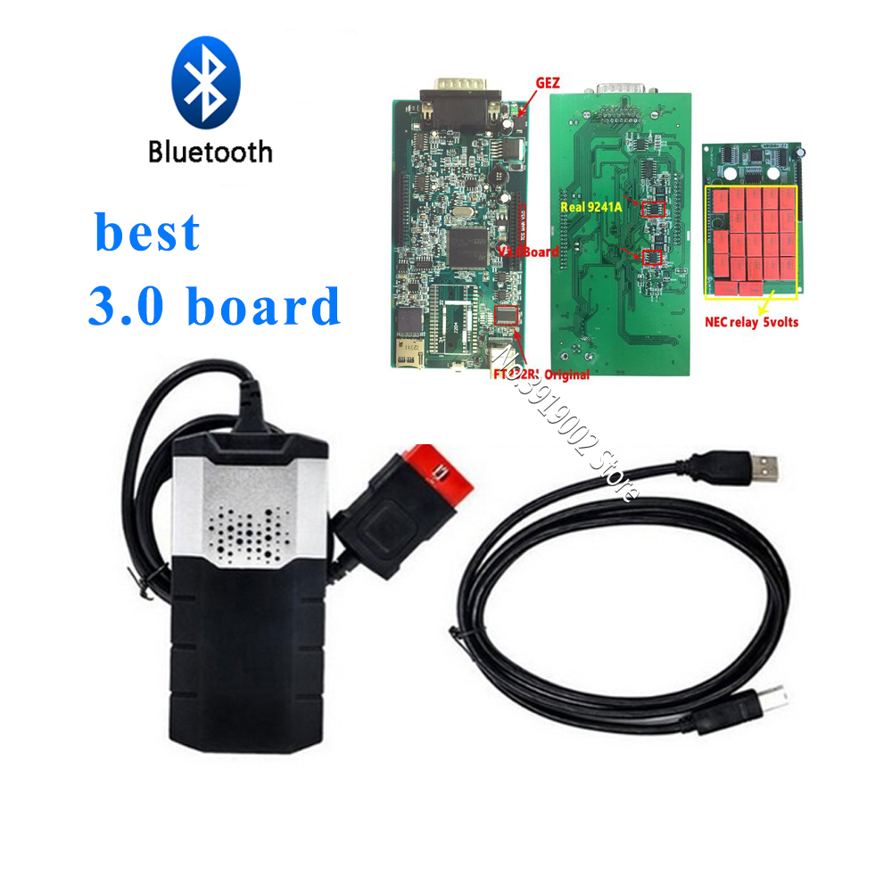 tcs cdp pro v3.0 pcb 9241 chip with bluetooth keygen Scan tool vd ds150e cdp for delphis for autocome