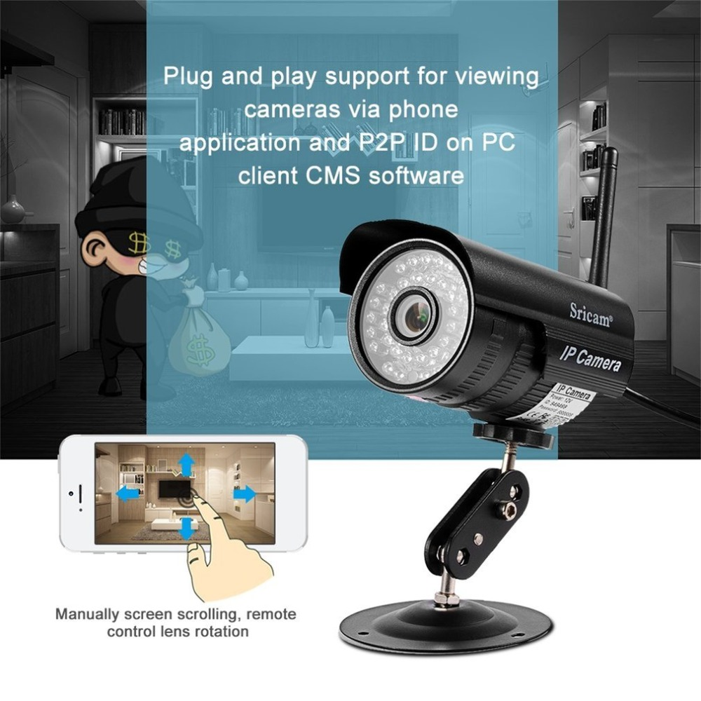Sricam SP013 HD 720P IP Camera Infrared Wireless Security CCTV Camera H.264 WIFI Night Vision Motion Detection IR LED Len jinage ip camera 720p wifi mini camera wireless infrared night vision cctv camera hd smart home security video motion detection