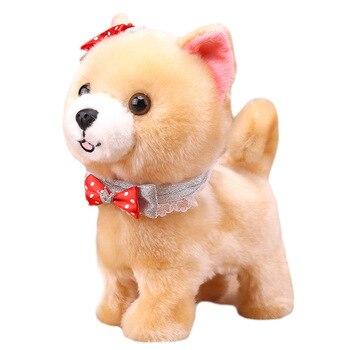 Robô cães falar andar casca brinquedo interativo cão brinquedos eletrônicos controle de som pelúcia brinquedos para crianças presentes aniversário