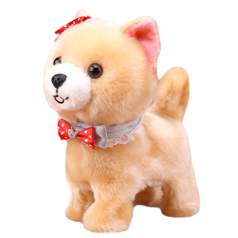 Robot perros hablar caminar Bark juguete interactivo perro electrónico juguetes de Control de sonido peluche perro mascota juguetes para niños regalos de cumpleaños