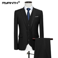 Ryanth Wedding Suits For Men Men Suits 2018 3 piece Formal Single Breasted Mens Pants