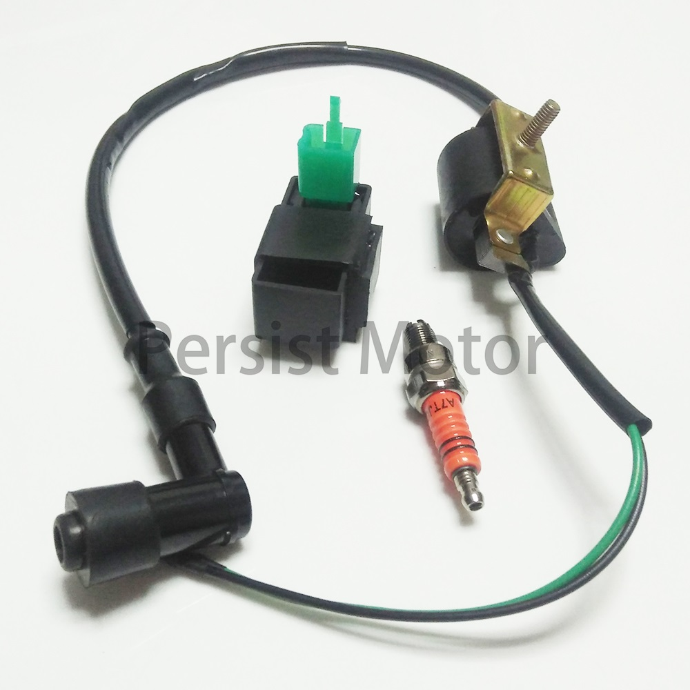 Buy Ignition Coil Cdi A7tjc Spark Plug For Honda 1970 Ct70 Xl185 Xl Xr 70 75 80 100 125