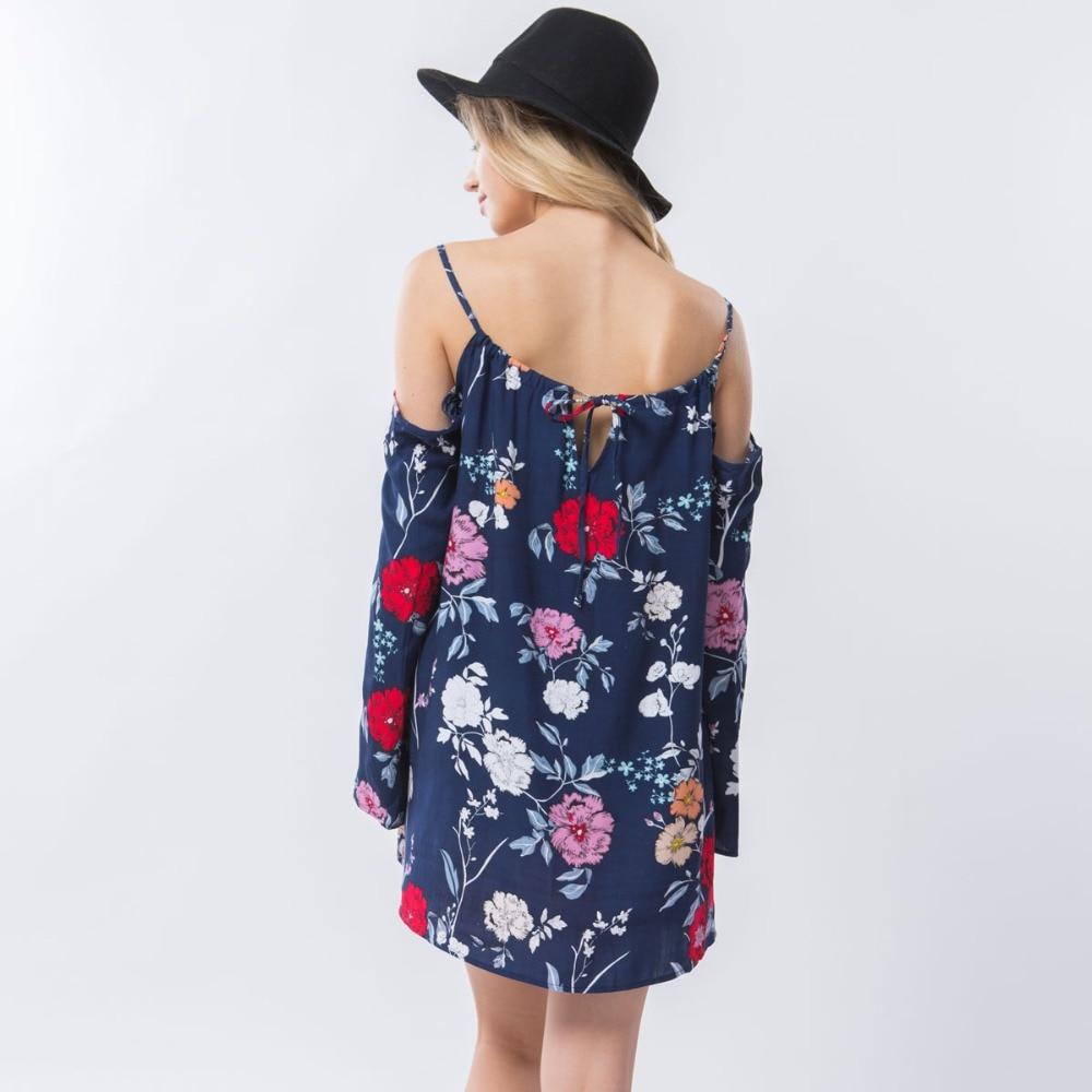 Dioufond Schulterfreies Blusenhemd Beach Summer Floral Blusen Strap - Damenbekleidung - Foto 3