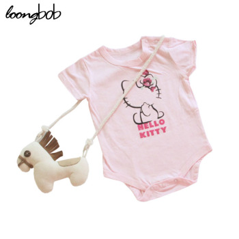 Bodysuit Baby Girls Pink Hello Kitty Printed One Piece Suit