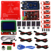 3D Printer Kit MK2B RAMPS 1 4 Controller For Arduino Mega 2560 R3 LCD 12864 6x