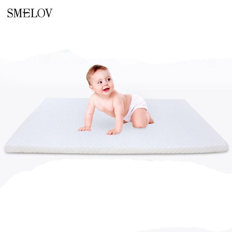smelov Foldable Thicken 3cm soft infant baby Children's mattresses foam bed furniture mattress Tatami Floor Sponge Mat pad white