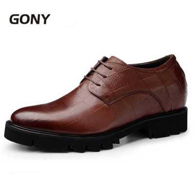Brand New Height Increasing Mens Genuine Leather Formal Dress Derby Shoes Get Taller 7 cm For Wedding, BusinessBrand New Height Increasing Mens Genuine Leather Formal Dress Derby Shoes Get Taller 7 cm For Wedding, Business