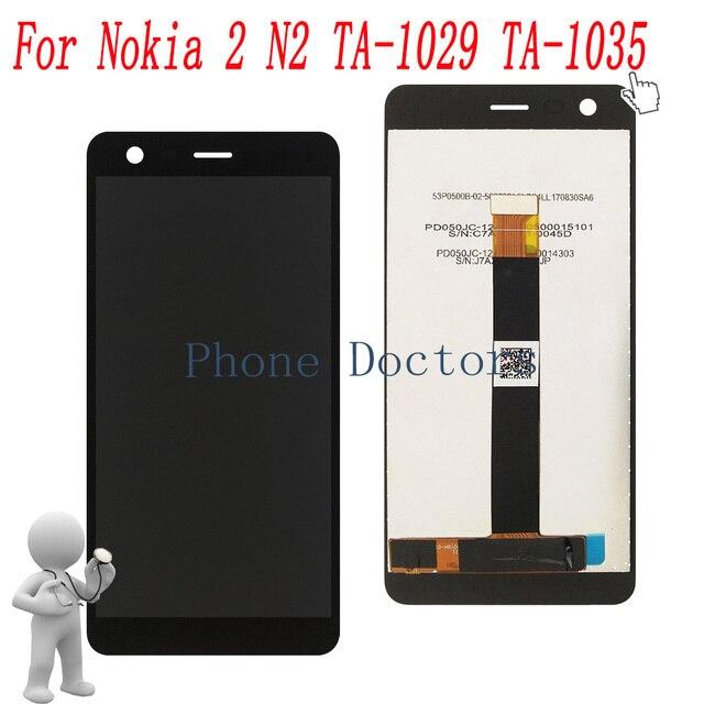 """5.0 """"עבור Nokia2 מלא LCD תצוגה + מסך מגע Digitizer עצרת עבור Nokia 2 N2 TA-1029 TA -1035 100% נבדק"""
