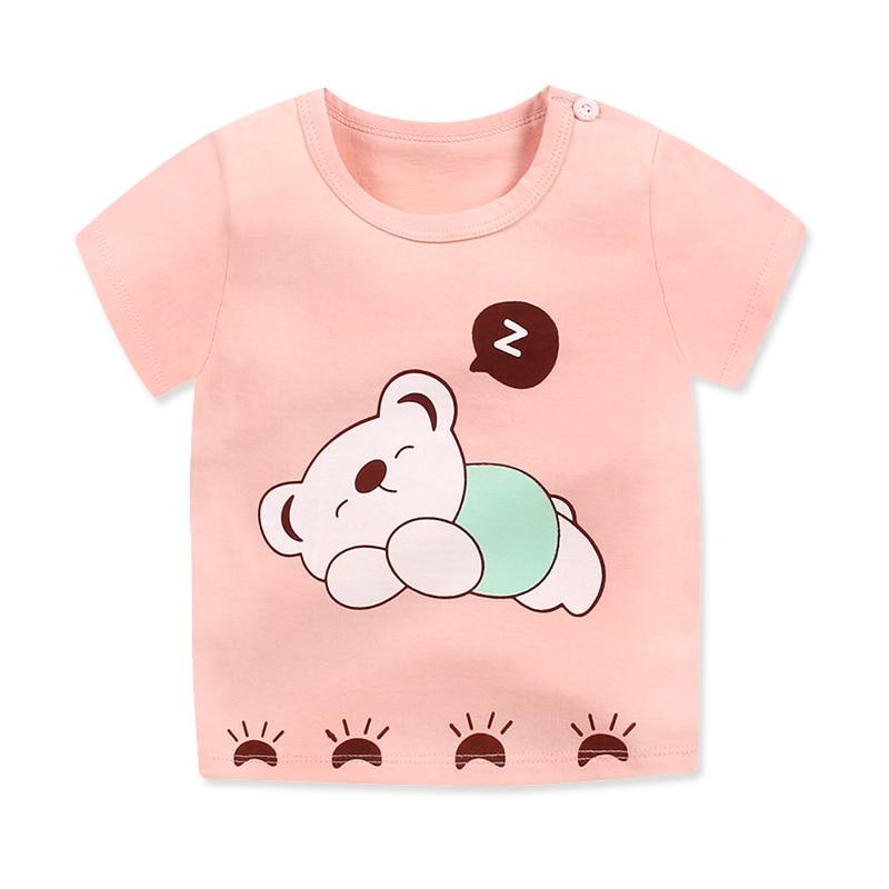 Cartoon Summer Fashion Children Girls Boys T Shirt Shorts Sleeve Cotton Casual Girls T shirt Printing Cartoon Kids Clothing Boys in Clothing Sets from Mother Kids
