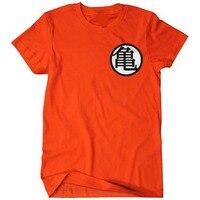 החולצה של גברים רכבת של גוקו אנימה Z דרגון בול Kame סמל מצחיק מבוגרים למעלה טי גרפי מודפס כותנה orange t-shirt בתוספת גודל