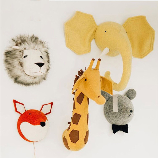 Aliexpress Com Buy Stuffed Animal Head Wall Mount Elephant Giraffe