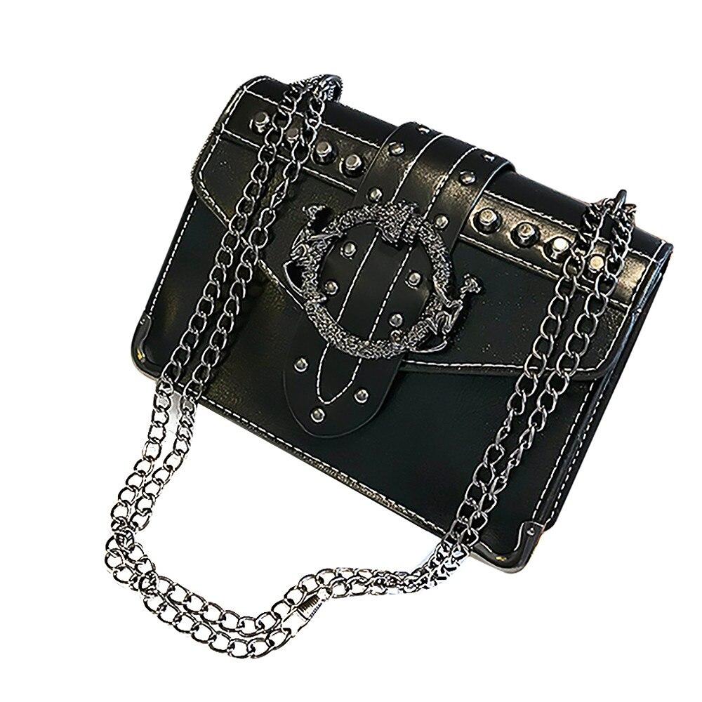 OCARDIAN Bag Women Messenger-Bag Hangbags Rivet-Button-Design Small Luxury903186 Fashion