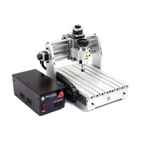mini wood router 200W spindle YOOCNC engrave machine with cutter collet clamp vise drilling kits