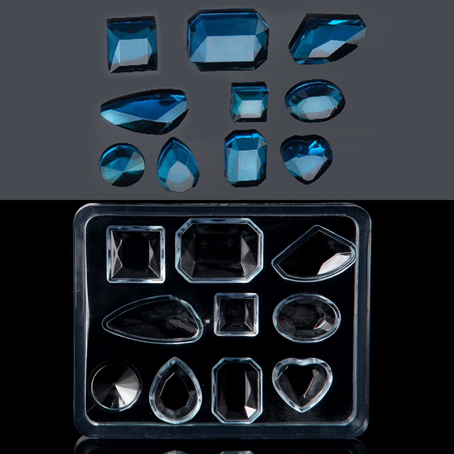 Geometric Jewelry Mold Pendant Earring Silicone Resin Craft Making Tool Handmade