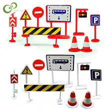 Traffic Signs Birthday-Gift Children Plastic for Kids WYQ 9pcs/Set Educational-Toy-Set