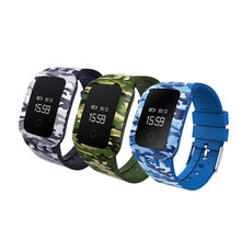 Новейшие камуфляж A28 Водонепроницаемый Bluetooth Smart Браслет Спорт SmartBand Поддержка мониторинга сердечного ритма 0.66 «Экран
