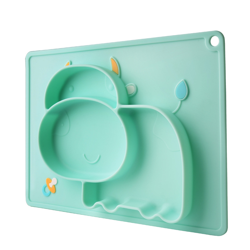 Children Food Feeding Container Placemat  Baby Plate Tableware Baby Dishes Infant Feeding Cup Silicone Suction Bowl For Kid