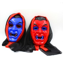 Fancy Design Red/Blue Face Halloween Super Scary Masks and Horror Bloody Cloth Festival Party Halloween Masquerade Vampire Mask