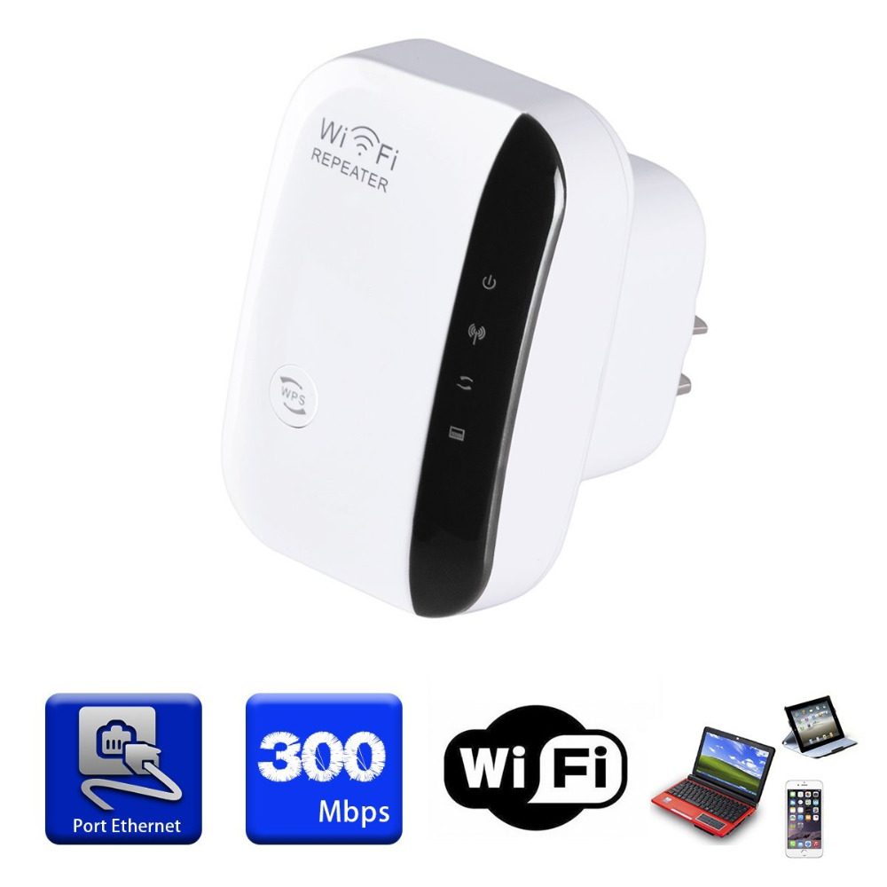 Wi-fi sem fio Amplificador de Sinal Repetidor 802.11N/B/G Wi-fi Gama Extander 300 150mbps Impulsionadores Do Sinal Repetidor Wi-fi Wps criptografia