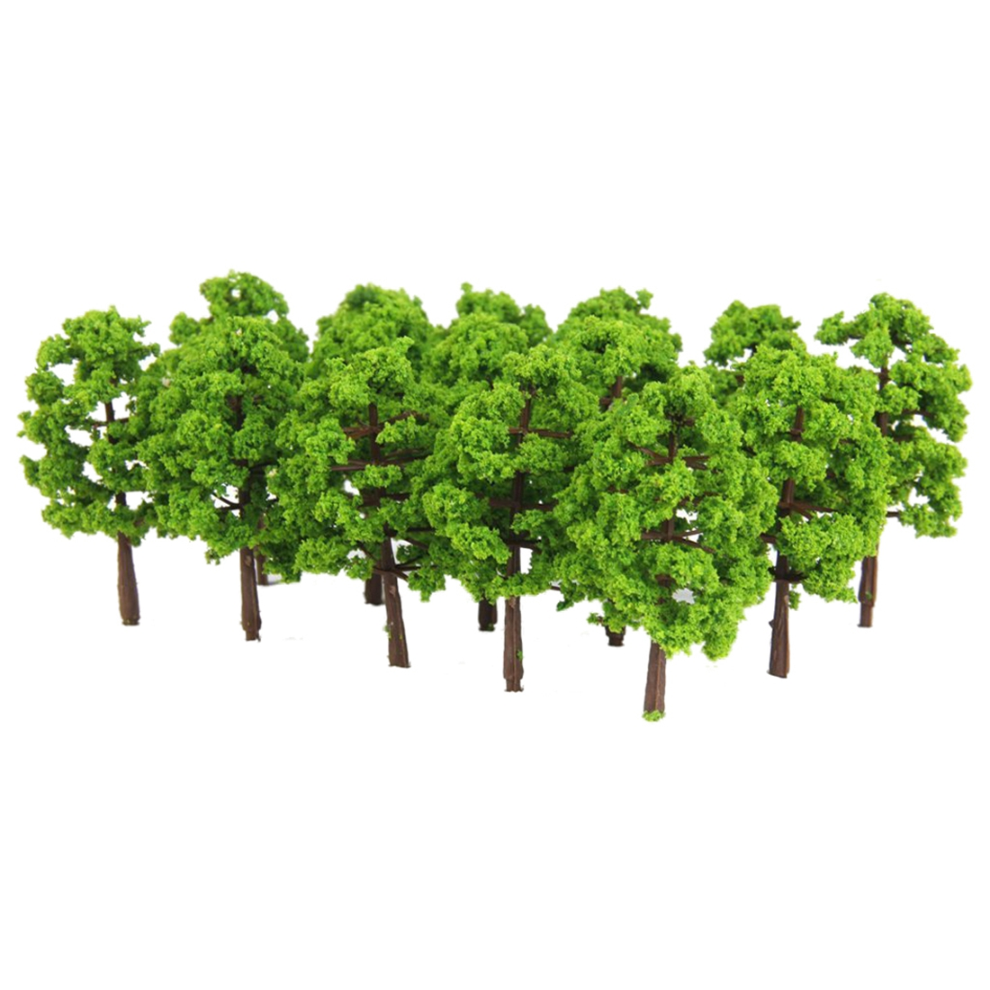 Plastic Model Tree Train Railway Landscape 1: 100 20 Pcs. Darkgreen