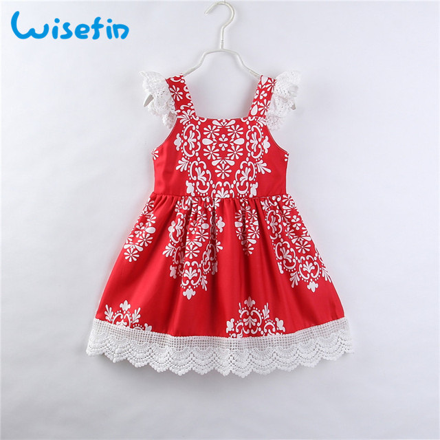 Wisefin Kids Girl Princess Dresses For Summer Lace Toddler Girl