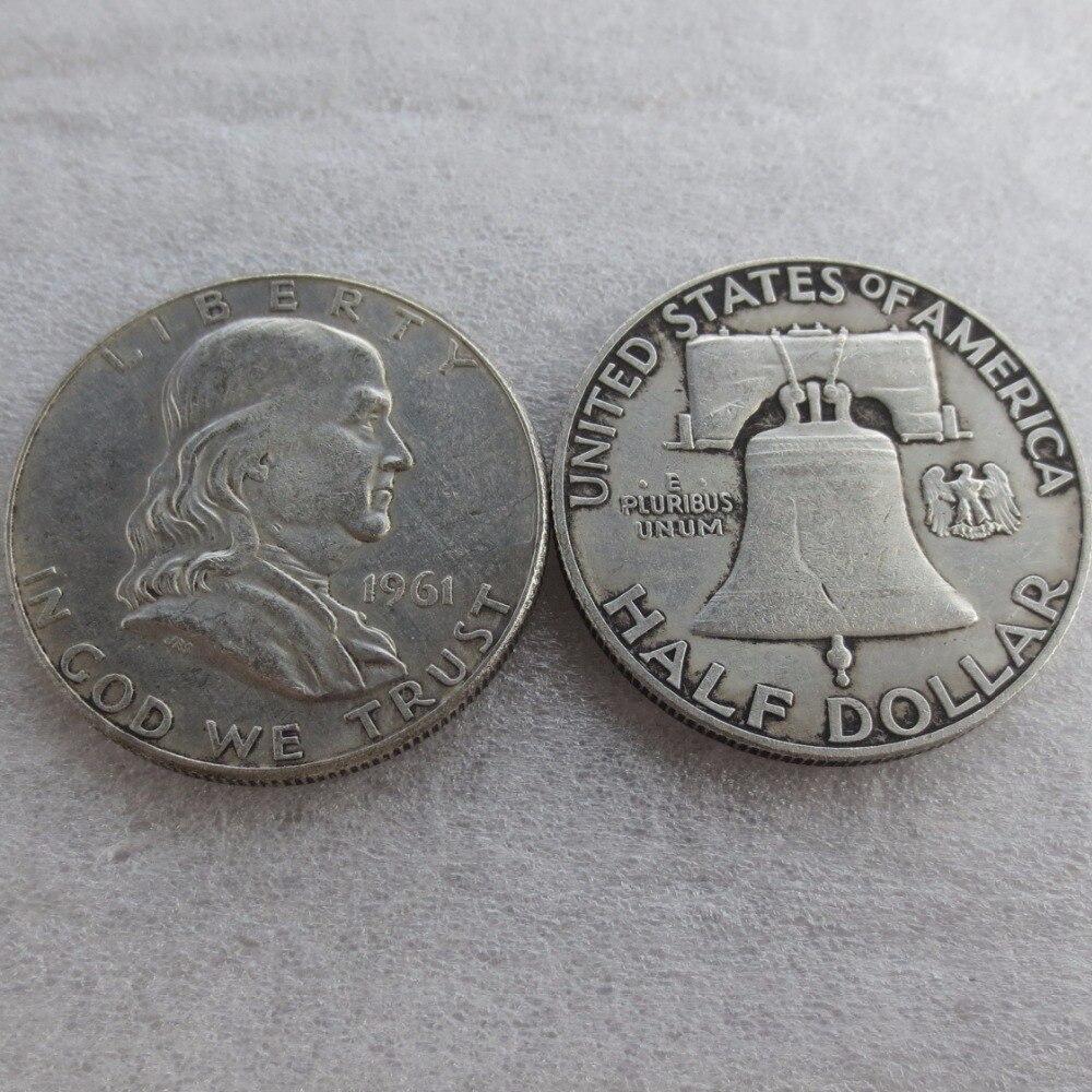 90% серебра или посеребренные 1961 P D Франклин серебро полдоллара высокое качество