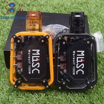 e-cigarette Warwolf 150W Box Mod Kit vape with QP KALI RDA QP Fatality RDA Atomizer  output 3500mAh battery vs Drag 2/ Minifit original ehpro 2 in 1 fusion 150w tc kit max 150w w fusion mod