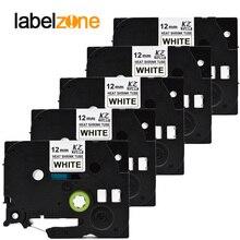 5 упак./лот термоусадочная трубка hse-231 черный на белом совместимый с Brother p-touch принтеры hse231 hse 231 ленточная этикетка кассета