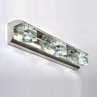 Free Shipping Washroom Wall Lights Laser Inside Apple Design Jewel Boxs Crystal Bathroom Mirror Wall Lamp